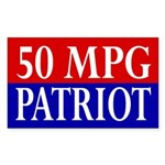 50 MPG Patriot (bumper sticker)