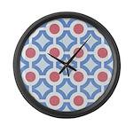 Vintage 60s Mod Print Large Wall Clock