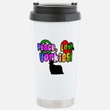 Hippie Yorkshire Terrier Travel Mug