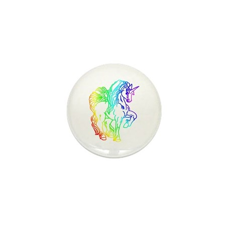 Rainbow Unicorn Mini Button (10 pack)
