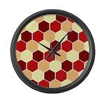 Retro Scales Geometric Print Large Wall Clock