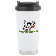 nothing that chews or moos Travel Mug