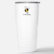 i'd rather bee beading Stainless Steel Travel Mug