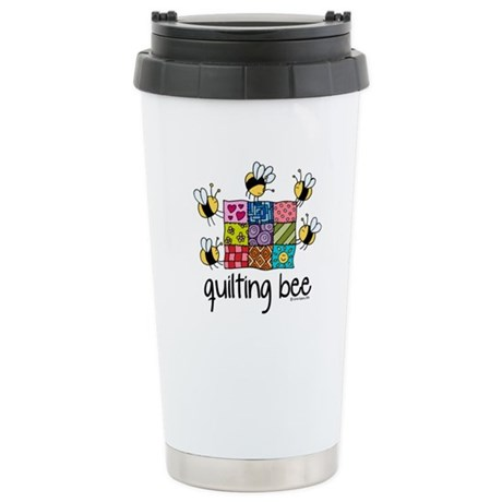 Quilting Bee Stainless Steel Travel Mug
