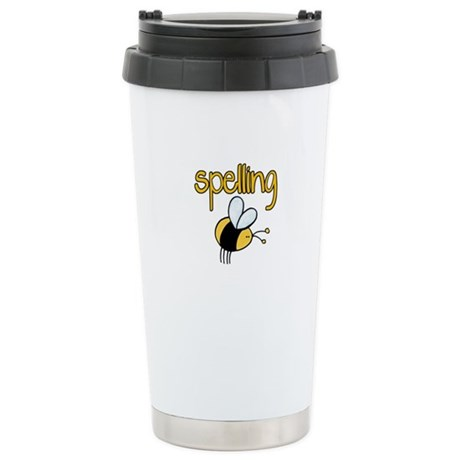Spelling Bee II Stainless Steel Travel Mug