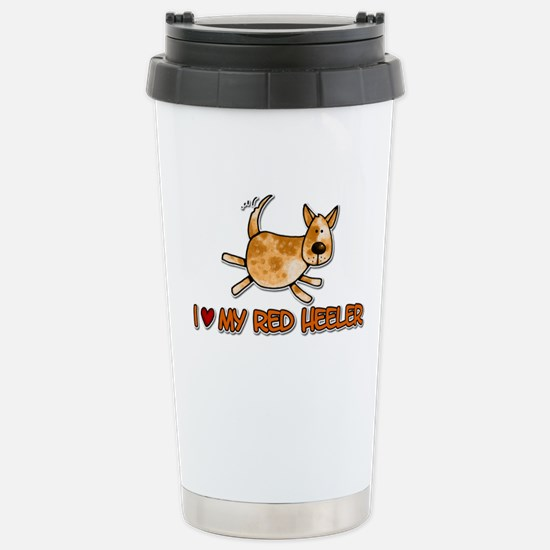 i love my red heeler Stainless Steel Travel Mug