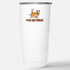 i love my red heeler Travel Mug