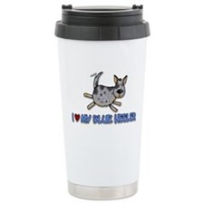 i love my blue heeler Travel Coffee Mug