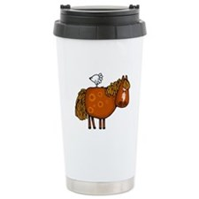 horsing around (no text) Travel Mug