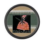 Tre Jur Perfume Advertisement Large Wall Clock