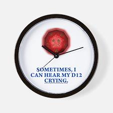 Crying D12 Wall Clock