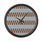 Blue and Brown Argyll Large Wall Clock