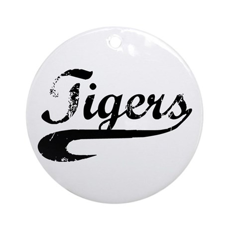 Go Tigers! (BW) Ornament (Round)