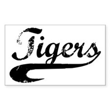 Go Tigers! (BW) Rectangle Decal