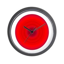 Red Swirl Wall Clock