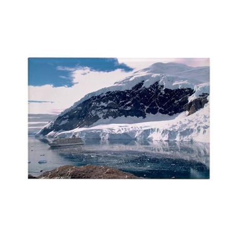 """Antarctica 2"" Rectangle Magnet (100 pack)"