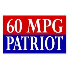 60 MPG Patriot (bumper sticker)
