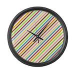 UltraMod Retro Striped Large Wall Clock