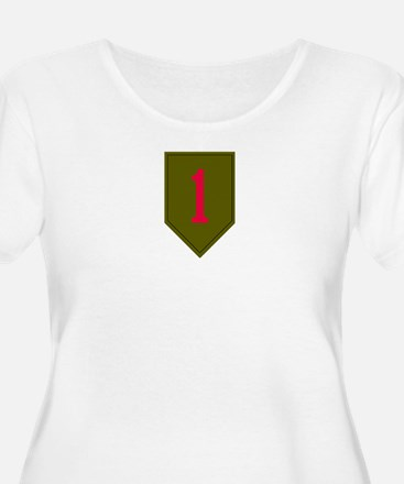 Women's Plus Size Scoop Neck - Army 1st Infantry