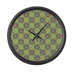 Retro Floral Print Large Wall Clock