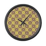 Mod Retro Floral Print Large Wall Clock