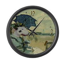 Bull Terrier MONET Large Wall Clock