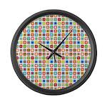 Funky Polka Dot Large Wall Clock