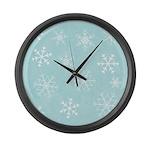 Contemporary Snowflake Large Wall Clock