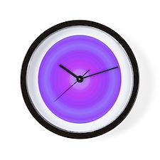 Color Swirl Purple Wall Clock