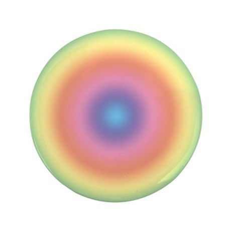 "Rainbow Swirl 3.5"" Button"