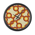 Funky Vintage SunsetLooking f Large Wall Clock