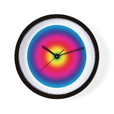 Rainbow Swirl 2 Wall Clock