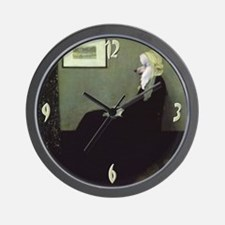 Poodle WHISTLER'S MOTHER Wall Clock