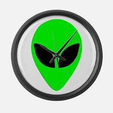 Alien Head Large Wall Clock