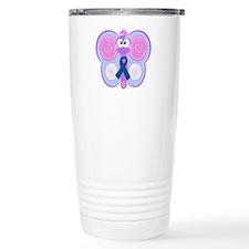 Blue Awareness Ribbon Goofkin Travel Mug