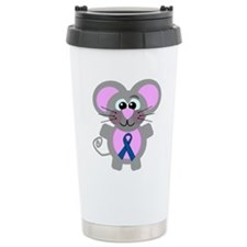 Blue Awareness Ribbon Goofkin Travel Mug