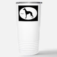 Whippet Silhouette Travel Mug