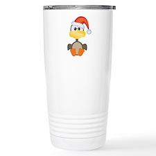 Cute Christmas Goose Santa Travel Mug
