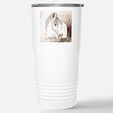 Grey Arabian Stallion Travel Mug
