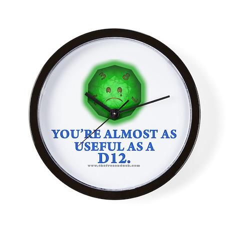 Useful as a a D12 (Green) Wall Clock