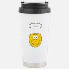 Chef/Cook Smiley Face Travel Mug