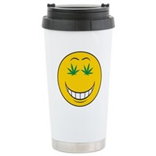 Pothead Smiley Face Travel Mug