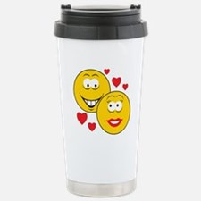 Smiley Faces in Love Travel Mug
