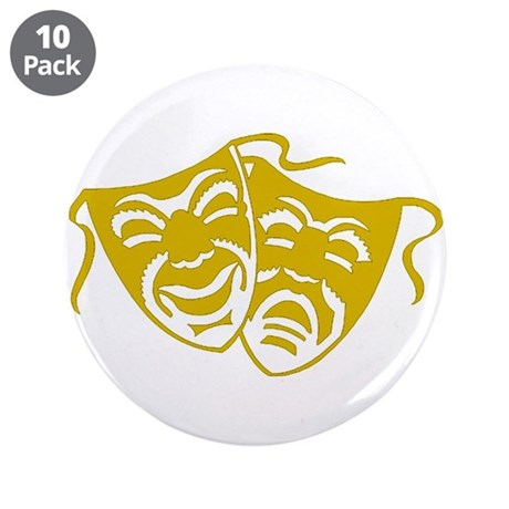 """Comedy or Tragedy 5 3.5"""" Button (10 pack)"""