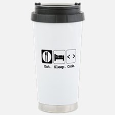 Eat. Sleep. Code. Stainless Steel Travel Mug