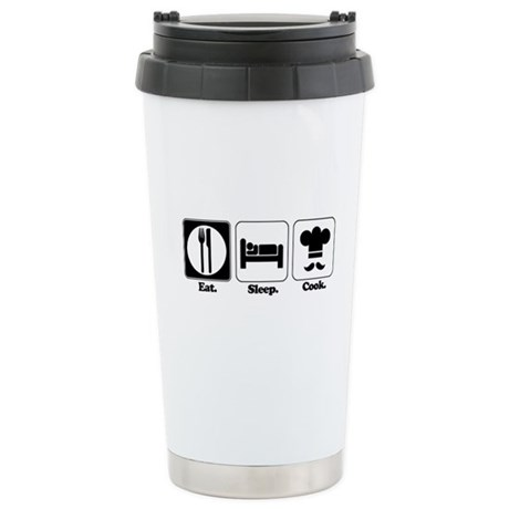 Eat. Sleep. Cook. Stainless Steel Travel Mug