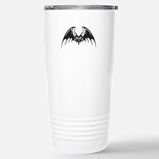 Tribal Vampire Bat Design Stainless Steel Travel M