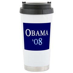 OBAMA'08 Stainless Steel Travel Mug