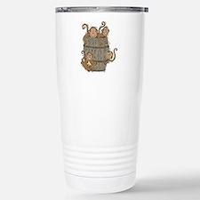Cute Barrel of Monkeys Stainless Steel Travel Mug