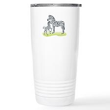 Mommy and Baby Zebra Travel Coffee Mug